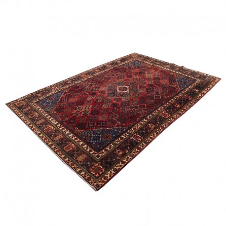 "8'8"" X 12'5"" Persian Rug from 1940s , Vintage Classic Antique Persian Rug Made of Merino Wool with Organic Colors"