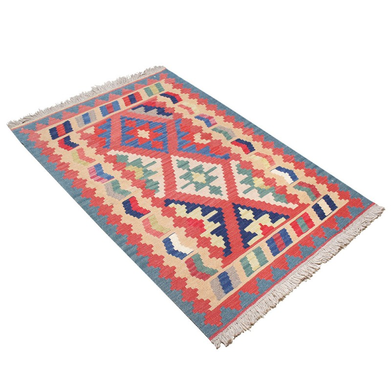 Art Kilim Wool Rug: 7'X10' Highest Quality Shirazb Kilim Rug , Lamb Wool Rug