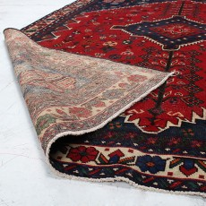 """6'7"""" X 9'5"""" Vintage Classic Persian Rug Yazd Design from 1960s , Persian Rug Made of Wool with Organic Colors"""