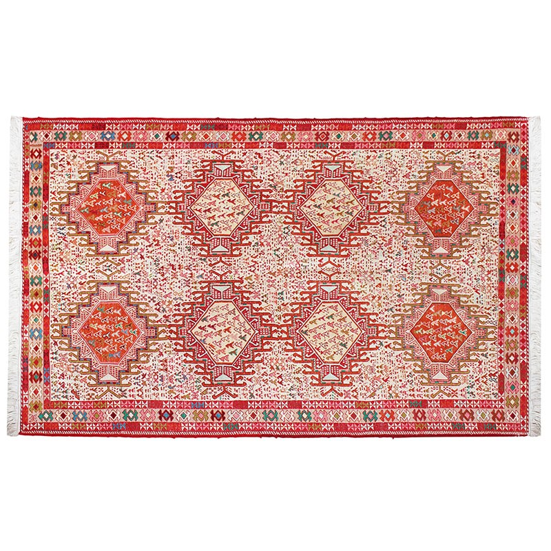 "4' X 6'5"" Pure Silk Kilim Area Rug, Highest Quality"