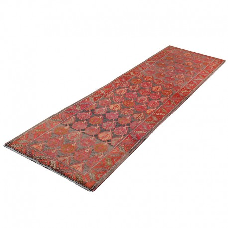 "2'7"" X 10' Vintage Classic Persian Runner Rug from 1920s , Antique Persian Runner Rug Made of Merino Wool"