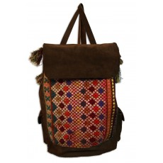 Hand-woven Kilim and Leather Handbag