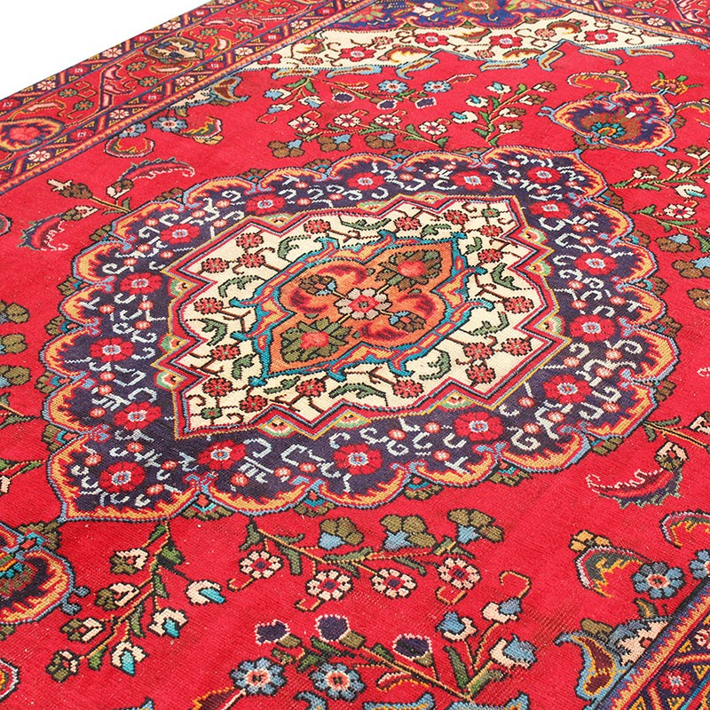 6 8 X 9 Clic Red Persian Rug Fl Design From
