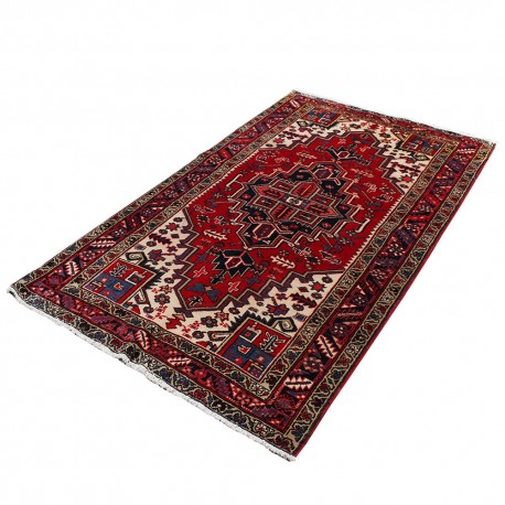 "4'8"" X 8'3"" Vintage Classic Persian Rug Tribal Design from 1960s , Antique Persian Rug Made of Merino Wool"