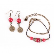 Gemstone earring-Bracelet