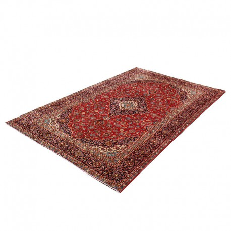 "7'6"" X 11'5"" Red Vintage Persian Rug from 60 years ago ,Very Classy Antique Persian Rug"