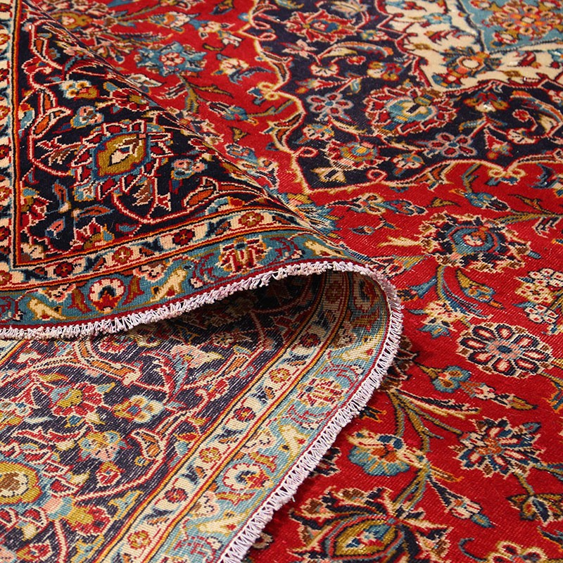 "7'6"" X 11'5"" Red Vintage Persian Rug From 60 Years Ago"