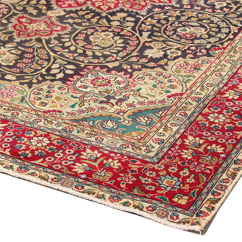 """6'6"""" X 9'7"""" Kashan Vintage Rug From 60 Years Ago , Highes"""