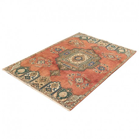 """6'3"""" X 9'6"""" Stunningly Beautiful Distressed Vintage Persian Rug from Turn of the Century Made of Merino Wool"""