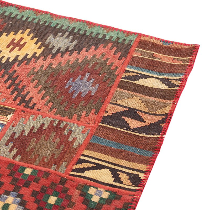 "6'6"" X 10' Kilim Patchwork Area Rug , High Quality Persian"