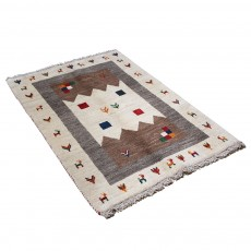 Hand knotted Persian Gabbeh Rug with Innovative Design