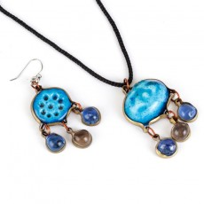 Clay Earring-Pendant Set