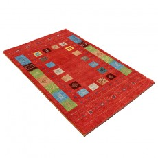 Hand knotted Persian Gabbeh Rug with Innovative Persian Design