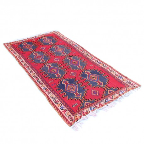 Persian Hand Knotted Kilim Rug, Wool Persian Rug and Kilim