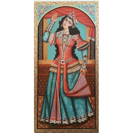 Dancing Qajarian Girl