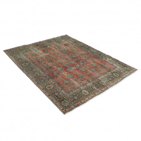 Overdyed Persian area rug