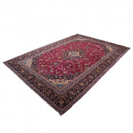 "9'4"" X 14' Vintage Classic Persian Rug Qom Design from 1960s , High Class Antique Persian Rug Made of Lamb Wool"