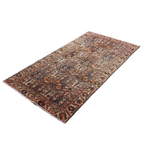 "4'9"" X 9'5"" Vintage Persian Runner Rug from 1910s ,Antique Persian Runner Rug Made of Lamb Wool with Organic Colors"
