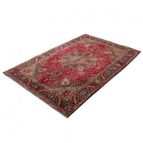 "6'4"" X 9'5"" Vintage Classic Persian Rug Yazd Design"
