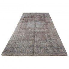 6'x12' Overdyed Vintage Persian Area Rug, Antique Persian Rug, Grey Carpet