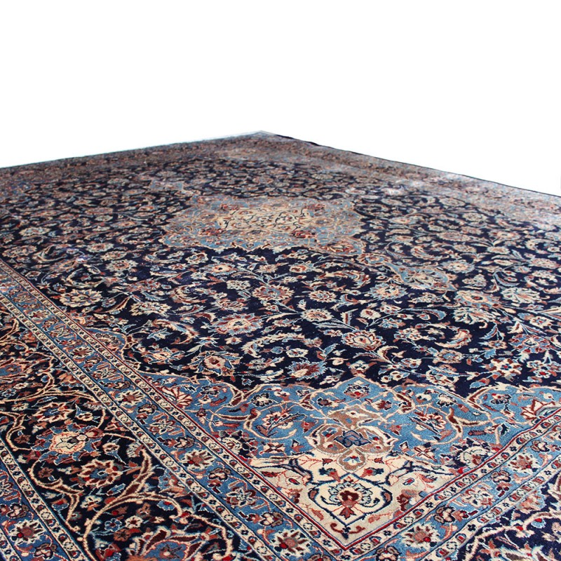 """Vintage Persian Rugs: 10' X 12'6"""" Vintage Classic Persian Rug From 1950s ,Black"""