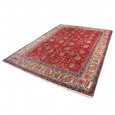 "10' X 12'8"" Vintage Persian Area Rug , Classic Antique Persian Rug from 1910s Made of Lamb Wool dyed Using Herbal Colors"