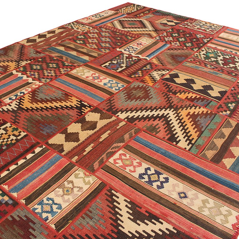 6 X 10 Kilim Patchwork Area Rug High Quality Persian