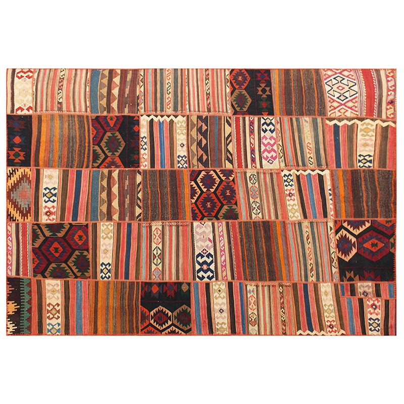 "6'7"" X 10' Kilim Patchwork Area Rug , High Quality Persian"