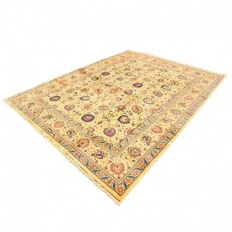 10' x13' Chaman Sabz Vintage Persian Rug from 1860s