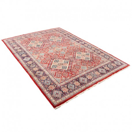 Red Pink Persian Hand Knotted Rug