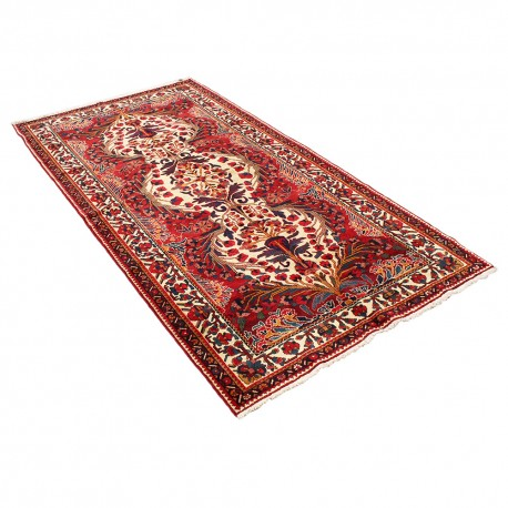 Red Vintage Persian Area Rug, Hand Knotted Rug