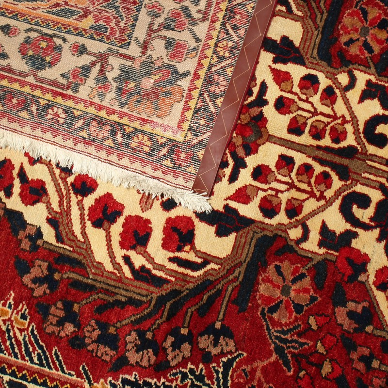 red vintage persian area rug hand knotted rug
