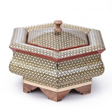 Hexagon-shaped Khatam box