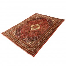 Vintage Handwoven Persian Rug , Using Merino Wool and Natural Colors