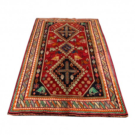 Persian Rug , From Shiraz,Hand Knotted and Made Of Merino Wool