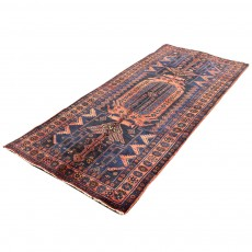Vintage Handwoven Persian Rug ,Made of Merino Wool Organic Colors,Illiyati Design