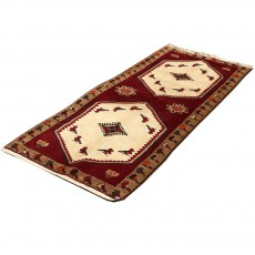 Persian Rug , Runner From Shiraz ,Hand Knotted and Made Of MerinoWool