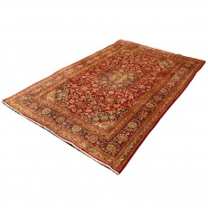 Vintage Handwoven Persian Rug ,Made of Merino Wool with Organic Colors