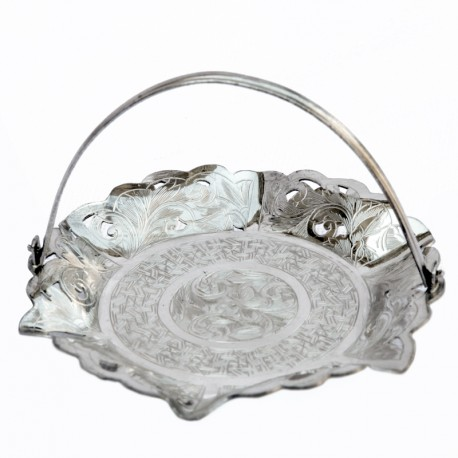 Silver Pastry Plate