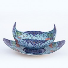 Boat-shaped Enamel Set