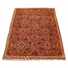Vintage Handwoven Persian Rug ,Made of Merino Wool Organic Colors,Qashghaei Design