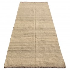 Vintage Handwoven Persian Kilim , Kilim Shiraz , Khaki Color