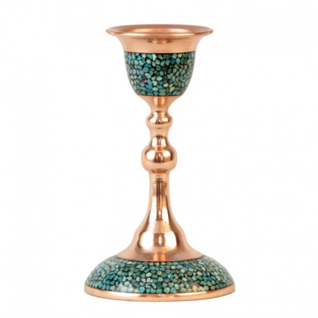 Turquoise Inlaid Candlestick