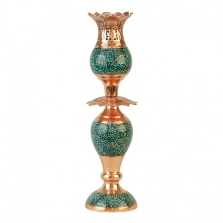 Turquoise Candlestick lamp