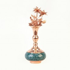 Turquoise Vase and Flower
