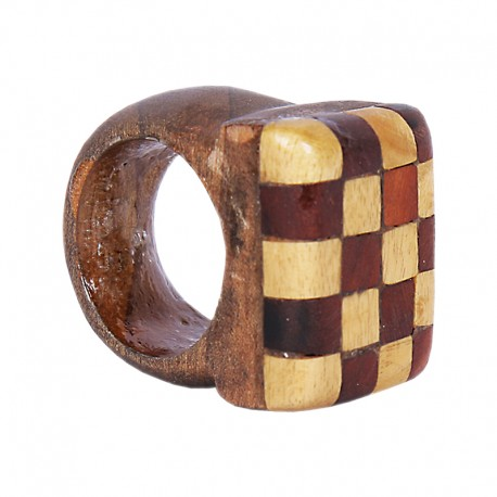 Handmade wood ring