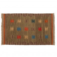 Vintage Handwoven Persian Kilim Rug ,Made of Merino Wool with Organic Colors
