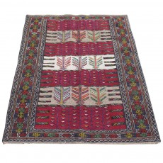 Vintage Handwoven Persian Kilim , ُُSpecial Design ,Using Merino Wool and Natural Colors