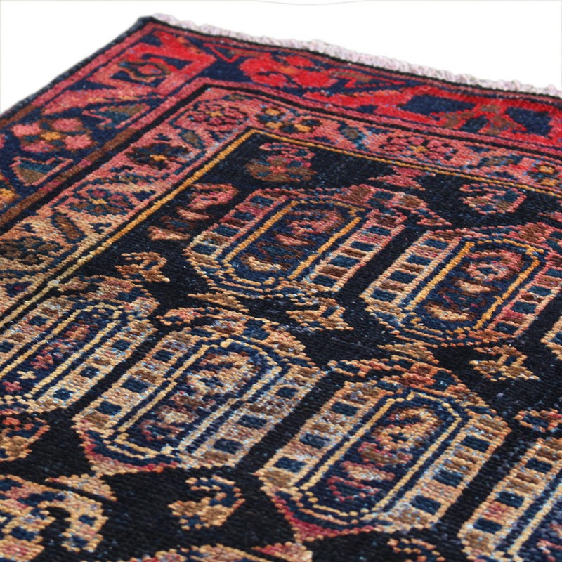 Vintage Persian Rug 100 Age Luxury Made Of Merino Wool Geometric