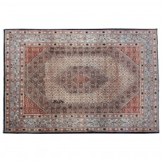 "10'1"" x 6'9"".Medallion floral design, Organic Colors , Floral Pattern, Area rug, Vintage Red Rug, Code : S0101358"